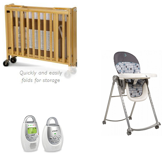 Crib Highchair Monitor Combo